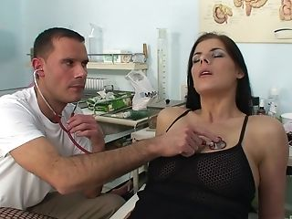 Smoking Hot Lellou Yells While A Pervy Physician Fucks Her