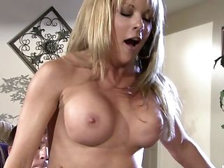 Blonde Mummy Shayla Laveaux Takes Care Of Son-in-law's Friend With Her Fuck-holes