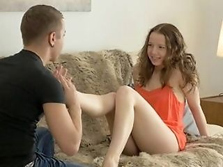 Sweet First-timer Gets The Dick She Wished From Her Step Step-brother