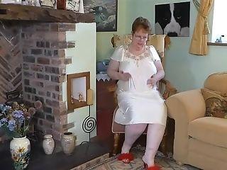 Bbw In Antique Nightdress