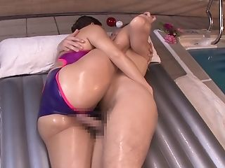Sexy Asian Honey Gives A Fellatio And Gets Fucked By The Pool