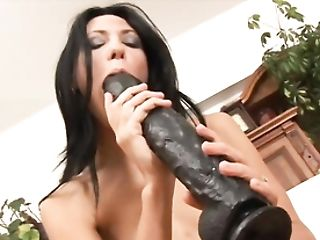 Skinny Russian Marty Crams Her Snatch With A Lengthy Fake Penis