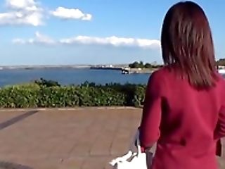 Japanese Brown-haired Arimura Nozomi Exposes Her Underpants To A Stranger
