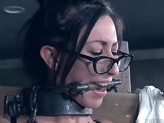 Assistant With Glasses Lily Lane Finds Herself Tied Up And Manhandled