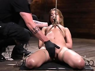 Petite Cutie Predominated By Mysterious Master In His Basement