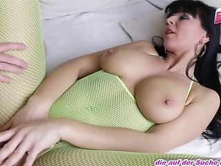 German First-timer Mom Catsuit Fuck With Big Tits