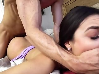 Angry Man Fucks Dark-haired Stepdaughter Who Has Stolen Money