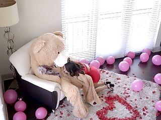 Dude In Teddy Cub Garb Fucks Tempting Gf Jasmine Grey