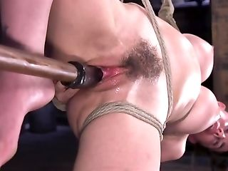 Tied Up Lady With Hairy Snatch Is At The Grace Of Domineering Man