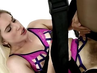 Blonde Teenage's Shaggy Puss Fucked By Dangled Older Stud