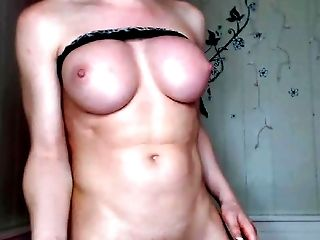 Buxom Blonde Tranny Solo Room Act