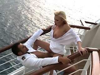 Captain Of The Boat Fucks Gorgeous Blonde Dona Bell