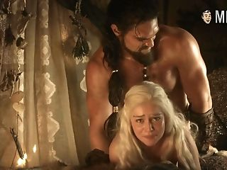 Some Rough Rear End Sofa Scene With Blonde Stunner Named Emilia Clarke