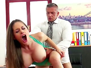 Big Titted Cathy Heaven Offers Her Figure To Her Randy Manager