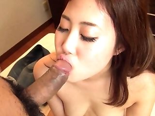 Black-haired Asian Deep Throats A Big Dick And Gets A Mouthhole Of Jism