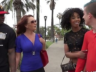 Perverted Chick Misty Stone Makes One Dude Observe How His Gf Gets Her Twat Blacked