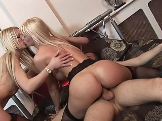 Cindy Behr Shares A Big Dick With An Insatiable Blonde