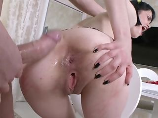 Little Tits Russian Chick Is A Bitch For His Big Dick