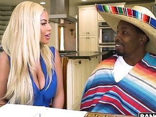 Man Eating Blonde Bridgette B Fellates Big Black Dick And Gets Her Muff Blacked