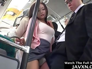Japanese Stunner Torn Up On The Bus