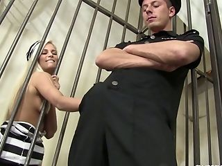 This Crazy And Flirty Convict Completes Up Getting Fucked By A Jail Guard