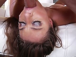 After Flashing Her Well-lubed Bubble Culo Gia Derza Gives Ultimately A Deepthroat