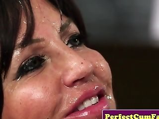 Dickblowing Matures Doc Spunked On Face