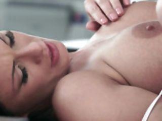 Hot Honey Massages Her Nips And Her Sweet Muff Lips