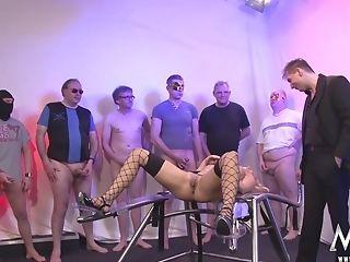 German Blonde Mommy Gang-bang And Mass Ejaculation