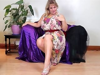 Matures Playful Blonde Mummy Danielle Strips And Plays With Herself