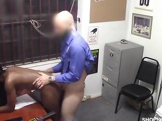 Milky Security Dude Fucks Shoplifting Black Chick Tori Montana
