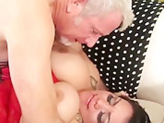 Large And Lovely Mia Riley Tit Fucks And Cunt Fucks An Older Man