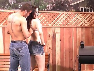Kimberly Kane Butt-fucked While Jacking Her Trimmed Vagina Outdoors