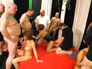 Hard-core Group Hook-up With Sexy Grannies