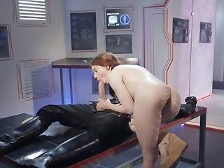 Sweet Ginger-haired Shows Up On An Alien Spaceship And Gets Fucked