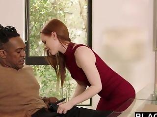 Ella Hughes Blows Mammoth Black Pipe