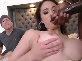 Courageous And Trampy Caucasian Gf Quinn Wilde Works On Two Strong Bbcs