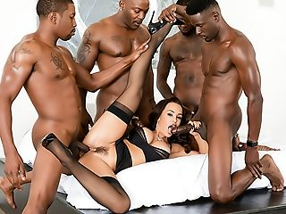 Lisa Ann's Interracial Double Penetration Big Black Cock Group Sex