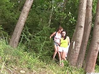 Nicole And Her Sexy Friend Love Going Total-girly-girl In The Wilderness