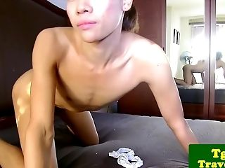Playful T-girl Pleasing Herself