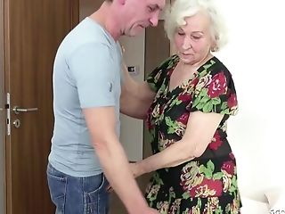 Uber-sexy Dude Wants To Feed With His Strong Shaft Horny Granny