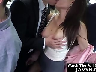 Hot Asian Stunner Fucked On The Bus