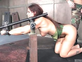 Chesty Whore Syren De Mer Pounded And Manhandled Gonzo Strapped To Floor