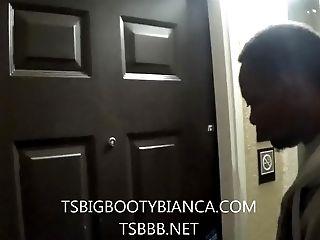 Shemale Pornographic Star Transsexual Big Booty Bianca Fucks Orgy Fucktoy Salesman!