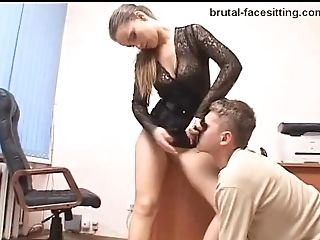 Russian Model With Hot Arse Requiring More Beaver Eating In Fem Dom Office Porno