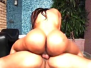 Large Booty Darksome T-woman Eloisa Lyron Donk Pounded