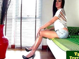 Beautiful Tranny Pita Taunts Her Fuck-stick