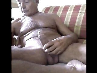 Grandfather Jizm On Web Cam
