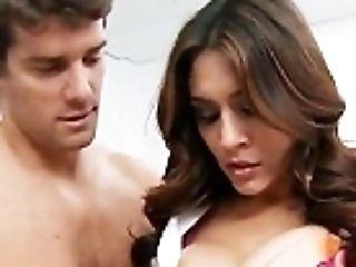 Hot And Sugary Latina Medic Raylene Tests Ramon's Stamina
